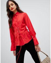 Camisa AX Paris de color Red