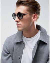 Emporio Armani - Black Round Sunglasses for Men - Lyst
