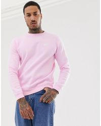 Nike Cotton Club Crew Neck Sweat in Pink for Men - Lyst