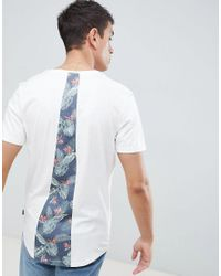 Jack & Jones - White Originals Longline T-shirt With Cut And Sew Back Panel for Men - Lyst