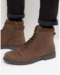Red Tape Lace Up Boots - Brown for men