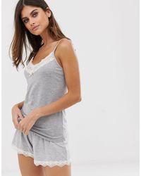 Серый Пижамный Топ На Бретелях Grace Eco Lindex, цвет: Multicolor