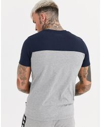 T-shirt avec poche à logo et empiècements Kappa pour homme en coloris Gray