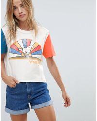 Wrangler White Cropped Logo T Shirt