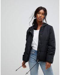 B.Young Black Short Padded Coat