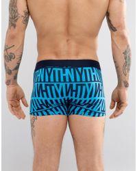 Tommy Hilfiger 2 Pack Trunks In Navy & Blue All Over Print for men