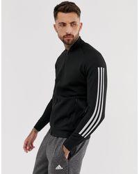 ID - Bomber en maille Adidas pour homme en coloris Black