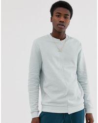 Sweat-shirt effet coupé-cousu sur le devant - Vert ASOS pour homme en coloris Gray