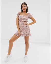 Missguided Pink – Milkmaid – Kleid