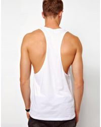 ASOS White Vest with The Vaccines Print for men