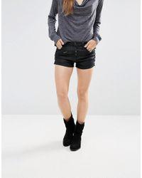 Free People - Black Lone Ranger Denim Shorts - Lyst