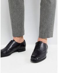 BOSS Boss Smooth Leather Oxford Shoes In Black for men