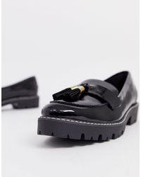 Dune Golding - Lakleren Loafers Met Kwastje in het Black