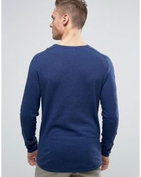SELECTED - Blue Knit In Marl for Men - Lyst