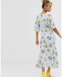 Платье Макси С Принтом Лимоном -мульти Never Fully Dressed, цвет: Multicolor
