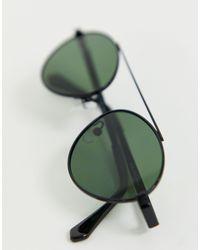A.J. Morgan Black – Ovale Pilotenbrille