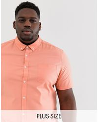 Camisa Oxford color coral ASOS de hombre de color Pink