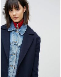 ASOS - Red Rib Neck Band With Ring Pull - Lyst