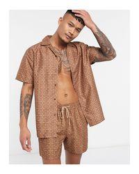 Шорты Для Плавания С Мозаичным Принтом -коричневый South Beach для него, цвет: Brown