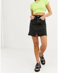 Cheap Monday Black Shrunken Skirt Dust