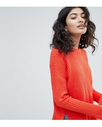 Weekday Red Ribbed Knit Sweater
