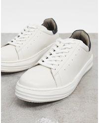 Bolongaro Trevor – Grobe Ledersneaker mit Schichtsohle in White für Herren