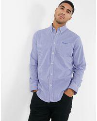 Рубашка В Клетку С Длинными Рукавами -синий Ben Sherman для него, цвет: Blue