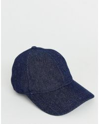 Weekday Blue Cusp Cap In Denim for men