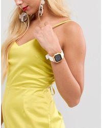 Nixon - A1211 Siren Digital Silicone Watch In White - Lyst