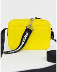 House of Holland Yellow Cross Body Bag