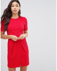 ASOS | Double Layer Textured Mini Wiggle Dress | Lyst