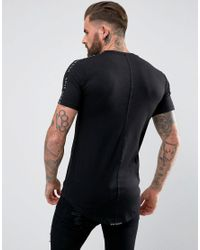 Rose London - T-shirt In Black With Taping for Men - Lyst