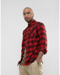 Adidas Originals Oversized Shirt In Red Check Br7936 for men