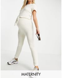 Белые Джоггеры Вязки Шишечками От Комплекта -белый Missguided, цвет: White
