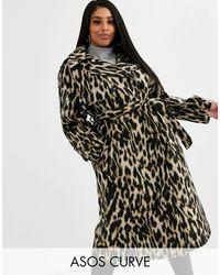 Abrigo extragrande con diseño ASOS de color Black
