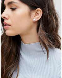 Pieces - Multicolor Round Stud Earrings - Lyst