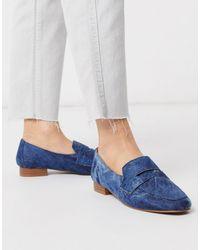 Membership - Mocassins plats en jean ASOS en coloris Blue