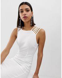 Белое Облегающее Платье С Бретелями -белый AX Paris, цвет: White
