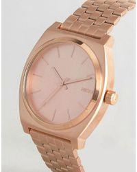 Nixon - Metallic Time Teller Bracelet Watch In Rose Gold - Lyst
