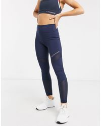 Tommy Hilfiger Blue Tommy Sport – Performance-Leggings mit Blockdesign
