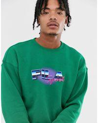 Fila Owlie - Sweater Met Grafische Print in het Green voor heren
