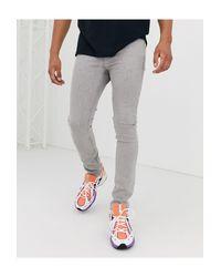 Jeans super skinny lavaggio grigio di ASOS in Gray da Uomo