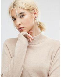 ASOS - Brown Tortoiseshell Stick Earrings - Lyst