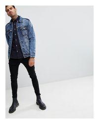 Giacca di jeans blu medio di Pull&Bear in Blue da Uomo
