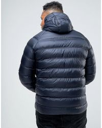 Bellfield - Blue Plus Lightweight Padded Jacket With Hood for Men - Lyst