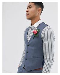 Серый Приталенный Жилет ASOS для него, цвет: Gray