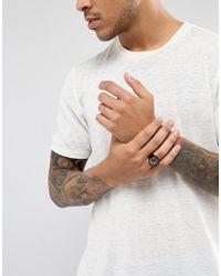 Seven London - Black Chunky Ring for Men - Lyst