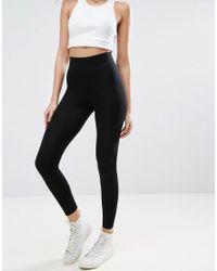ASOS Black leggings With Deep Waistband