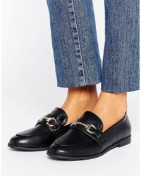 New Look Black Buckle Loafer