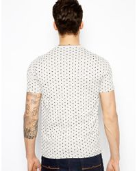 PS by Paul Smith Gray Tshirt in Polka Dot Regular Fit for men